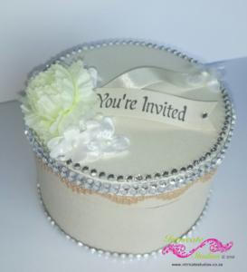 Hat box invitations 2